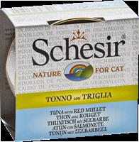 تصویر کنسرو Schesir مخصوص گربه با طعم ماهی تن و شاه ماهی