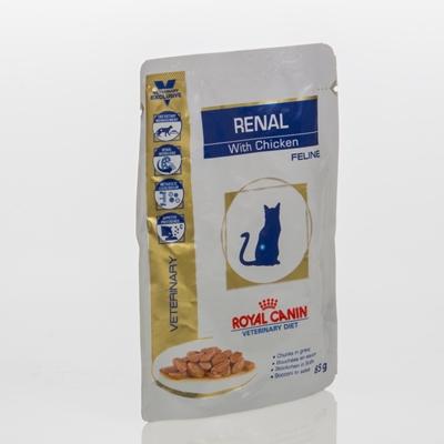 تصویر پوچ گربه مبتلی به بیماریهای کلیوی-گوشت Royal Canin