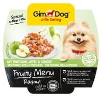تصویر کنسرو Gimdog Fruty Menu حاوی خوراک راگو،گوشت بوقلمون و سیب Gimdog