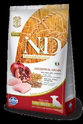 تصویر غذای خشک N&D مخصوص توله سگ حاوی مرغ و انار 2.5 کیلوگرمی MINI