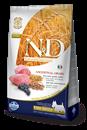 تصویر غذای خشک N&D مخصوص سگ بالغ حاوی گوشت بره و بلوبری 2.5 کیلوگرم MINI