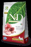 تصویر غذای خشک N&D بدون غلات مخصوص سگ بالغ نژاد کوچک حاوی مرغ و انار 2.5 کیلوگرمی MINI