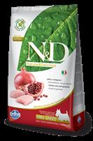 تصویر غذای خشک N&D بدون غلات مخصوص سگ بالغ نژاد کوچک حاوی مرغ و انار 800 گرمی MINI