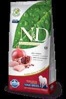 تصویر غذای خشک N&D بدون غلات مخصوص سگ بالغ نژاد بزرگ حاوی مرغ و انار 12 کیلوگرم MAXI