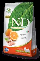 تصویر غذای خشک N&D بدون غلات مخصوص سگ بالغ حاوی ماهی و پرتغال 800 گرمی MINI