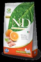 تصویر غذای خشک N&D بدون غلات مخصوص سگ بالغ حاوی ماهی و پرتغال 2.5 کیلوگرمی  MINI