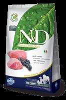 تصویر غذای خشک N&D بدون غلات مخصوص سگ بالغ حاوی گوشت بره و بلوبری 800 گرم MEDIUM