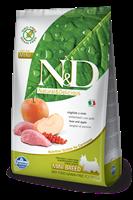 تصویر غذای خشک N&D بدون غلات مخصوص سگ بالغ حاوی گوشت گراز و سیب و کدوحلوایی 800 گرم MINI