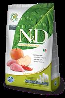 تصویر غذای خشک N&D بدون غلات مخصوص سگ بالغ همه نژادها حاوی گوشت گراز و سیب 2.5 کیلوگرم MEDIUM