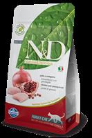 تصویر غذای خشک N&D بدون غلات مخصوص گربه بالغ حاوی مرغ و انار10 کیلوگرم