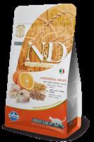 تصویر غذای خشک N&D مخصوص گربه بالغ حاوی ماهی کد و پرتغال 300 گرم