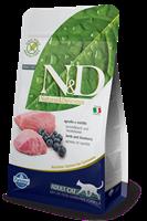 تصویر غذای خشک N&D بدون غلات مخصوص گربه بالغ حاوی گوشت بره و بلوبری - 300 گرم