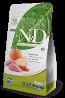 تصویر غذای خشک N&D بدون غلات مخصوص گربه بالغ حاوی گوشت گراز و سیب 300 گرم
