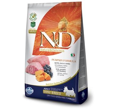 تصویر غذای خشک N&D بدون غلات مخصوص سگ بالغ نژاد کوچک حاوی گوشت بره، کدو حلوایی و بلوبری - 800 گرم MINI