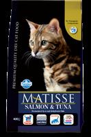 تصویر غذای خشک گربه بالغ MATISSE با طعم ماهی سالمون و ماهی تن - 400 گرمی