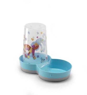 تصویر ظرف غذا و آب Moderna برای سگ و گربه 1.5 لیتری