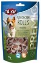 تصویر غذای تشویقی سگ Trixie مدل Fish Chicken Rolls با طعم مرغ و ماهی پولوک