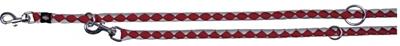 تصویر بند قلاده قابل تنظیم Trixie 2 متری مدل Cavo رنگ قرمز و نقره ای با قطر 12 میلی متری
