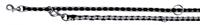 تصویر بند قلاده قابل تنظیم Trixie 2 متری مدل Cavo رنگ مشکی و نقره ای با قطر 12 میلی متری