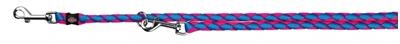 تصویر بند قلاده قابل تنظیم Trixie 2 متری مدل Cavo رنگ آبی و صورتی با قطر 12 میلی متری