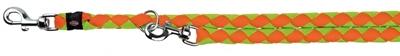 تصویر بند قلاده قابل تنظیم Trixie 2 متری مدل Cavo رنگ فسفری و نارنجی با قطر 18 میلی متری