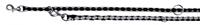 تصویر بند قلاده قابل تنظیم Trixie 2 متری مدل Cavo رنگ مشکی و نقره ای با قطر 18 میلی متری