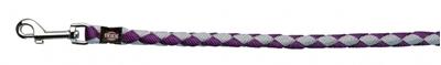 تصویر بند قلاده Trixie 1 متری مدل Cavo رنگ بنفش و نقره ای با قطر 18 میلی متری