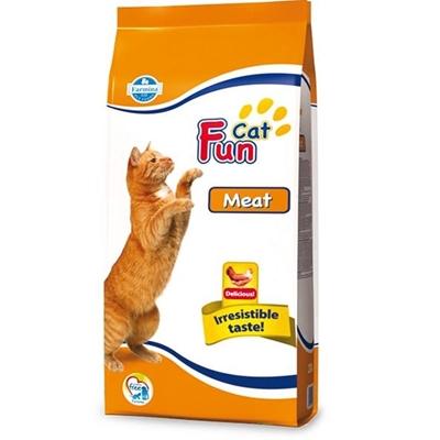 تصویر غذای خشک Fun Cat مخصوص گربه بالغ تهیه شده از گوشت مرغ - 2.4 کیلوگرم
