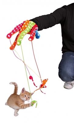 تصویر اسباب بازی گربه دستکش Trixie با عروسک موش