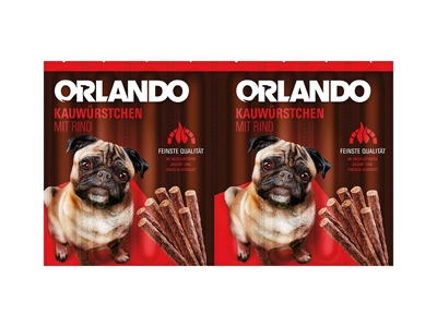 تصویر اسنک تشویقی سگ Orlando با طعم گوشت گاو- 88 گرمی