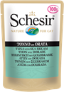 تصویر پوچ گربه Schesir با طعم ماهی تن و ماهی سیبریم  - 100 گرمی