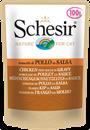 تصویر پوچ گربه Schesir با طعم قطعات نازک مرغ در سبزیجات - 100 گرمی