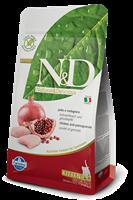 تصویر غذای خشک N&D بدون غلات مخصوص بچه گربه حاوی مرغ و انار