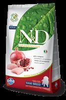 تصویر غذای خشک N&D بدون غلات مخصوص توله سگ نژاد بزرگ حاوی مرغ و انار MAXI