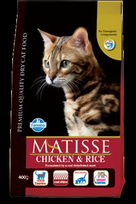 تصویر غذای خشک گربه بالغ MATISSE با طعم مرغ و برنج