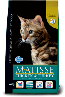 تصویر غذای خشک گربه بالغ MATISSE با طعم مرغ و بوقلمون