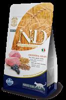 تصویر غذای خشک N&D مخصوص گربه بالغ  حاوی گوشت بره و بلوبری