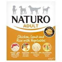 تصویر خوراک کاسه ای مرغ، گوشت بره، برنج و سبزیجات NAUTRO مخصوص سگ بالغ