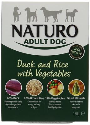 تصویر خوراک کاسه ای اردک، برنج و سبزیجات NAUTRO مخصوص سگ بالغ