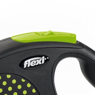 تصویر قلاده متری Flexi، مدل Design رنگ سبز - 5 متری سایز M