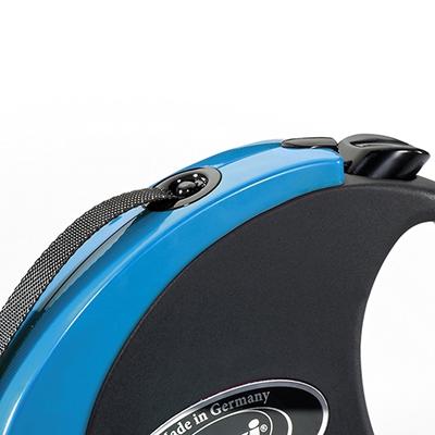 تصویر قلاده متری Flexi، مدل collection رنگ مشکی آبی - 5 متری سایز XS