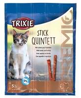 تصویر استیک مدادی مخصوص گربه Trixie مدل Quintett تهیه شده از گوشت بره و بوقلمون - بسته 5 عددی