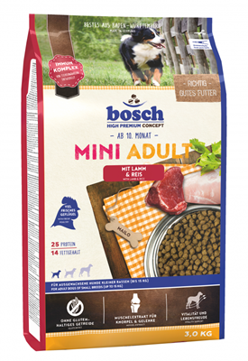 تصویر غذای خشک Bosch مخصوص سگ های بالغ نژاد کوچک تهیه شده از گوشت بره و برنج - 1 کیلوگرم