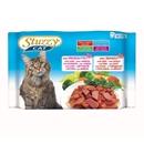 تصویر بسته پوچ با طعم ژامبون، گوشت گوساله Stuzzy مخصوص گربه بالغ - بسته 4 عددی