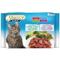 تصویر بسته پوچ با طعم مرغ، گوشت گاو Stuzzy مخصوص گربه بالغ - بسته 4 عددی