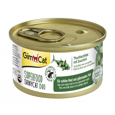 تصویر کنسرو مخصوص گربه Gimcat مدل Superfood با طعم ماهی و کدو سبز - 70 گرم