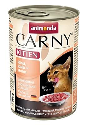 تصویر کنسرو Carny مخصوص بچه گربه با طعم گوشت گوساله  و گوشت گاو و مرغ - 400 گرم