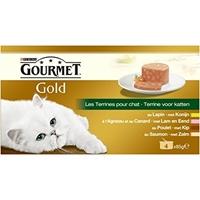 تصویر کنسرو گربه Gourmet با طعم های خرگوش، گوشت بره، اردک، ماهی آب های آزاد - بسته 4 عددی