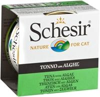 تصویر کنسرو Schesir مخصوص گربه با طعم ماهی تن و علف دریایی - 85 گرم
