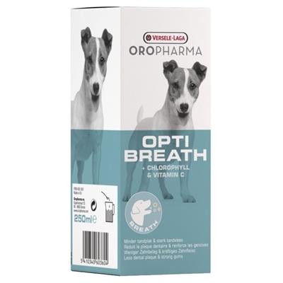 تصویر محلول جلوگیری کننده از تشکیل جرم و خوشبو کننده دهان مخصوص سگ Verse-Laga مدل OptiBreath - 250 میلی لیتر